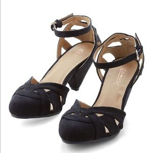 Currant Scones Heel in Black -from ModCloth